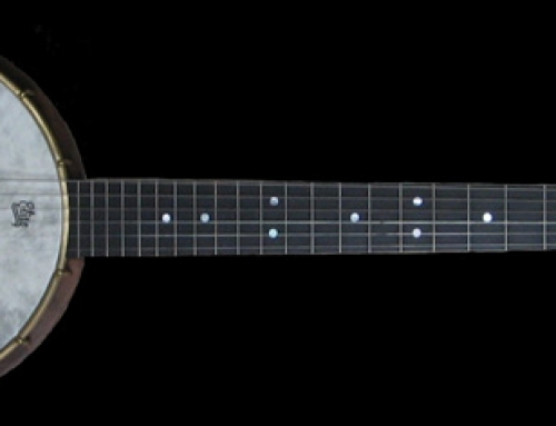 Six String Black Walnut Banjo-Guitar