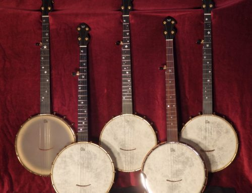 11″ and 12″ Dobson banjos
